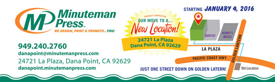 Minuteman Press is Moving Across the Street