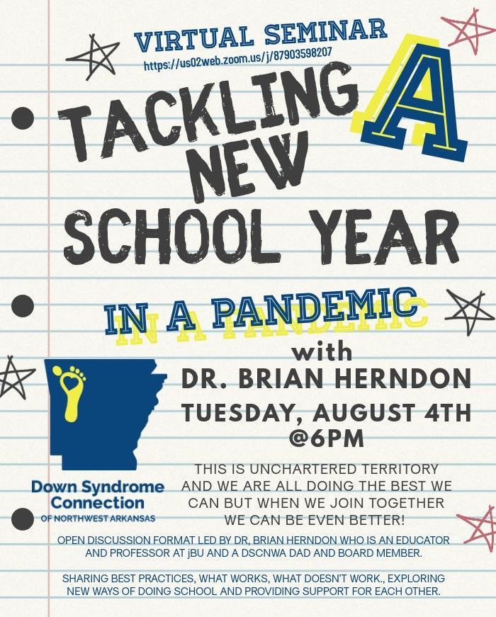 Tackling A New School Year in a Pandemic with Dr. Brian Herndon Virtual Seminar