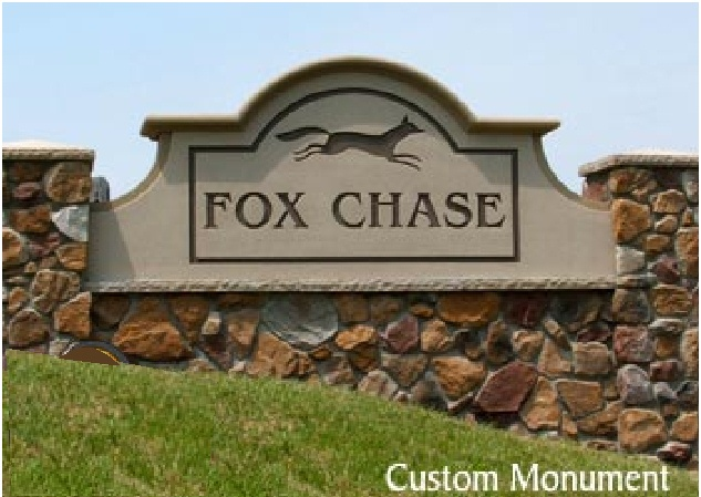 M6710 - Custom Monument Sign inset on Rock Wall