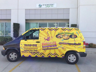 Restaurant van wraps Orange County