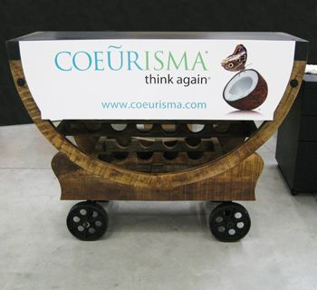 Wine Cart with Banner