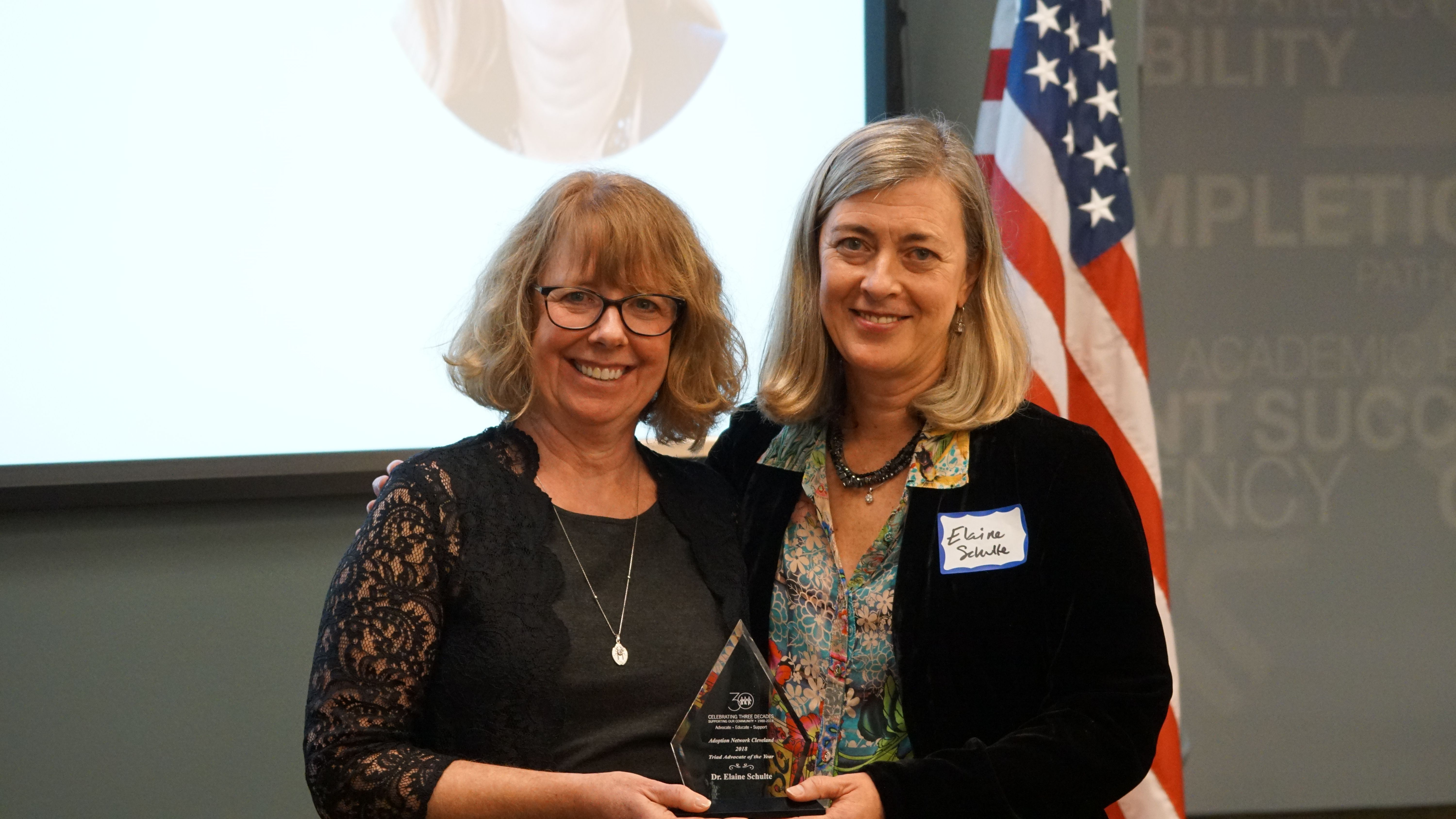 Dr. Elaine Schulte Honored as a Triad Advocate of the Year
