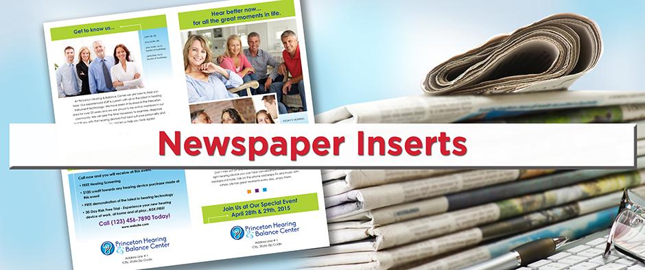 Newspaper Inserts Broadsheets