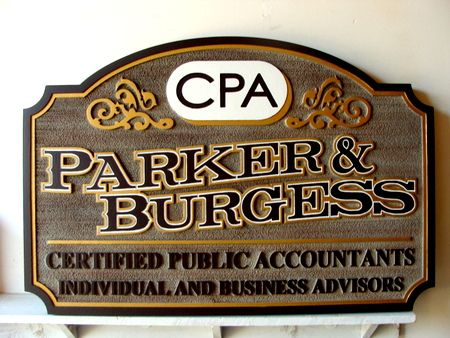 C12002 - CPA and Financial Advisor Carved Wooden Sign