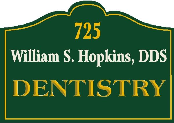 BA11600 – Sandblasted HDU Wall or Hanging Dentist Sign.