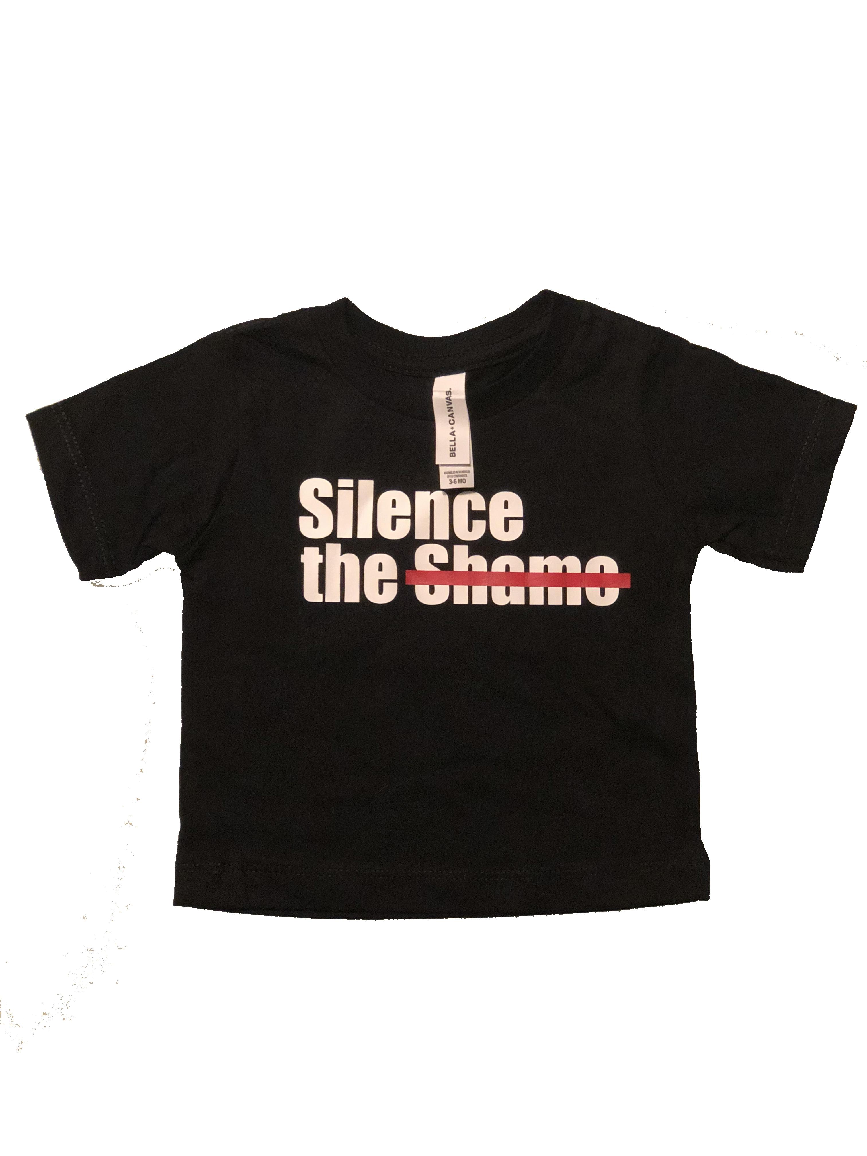 Silence the Shame Signature Black Infant T-Shirt 12-18