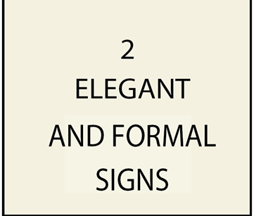 2, - I18100 - Elegant and Formal Estate and Property Name Signs,with  Engraved Script Text and Gold Leaf