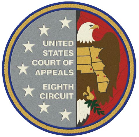 U30125 -  Carved 3-D or 2.5-D  Wall Plaque for the Seal of the US  8th Circuit Court of Appeals