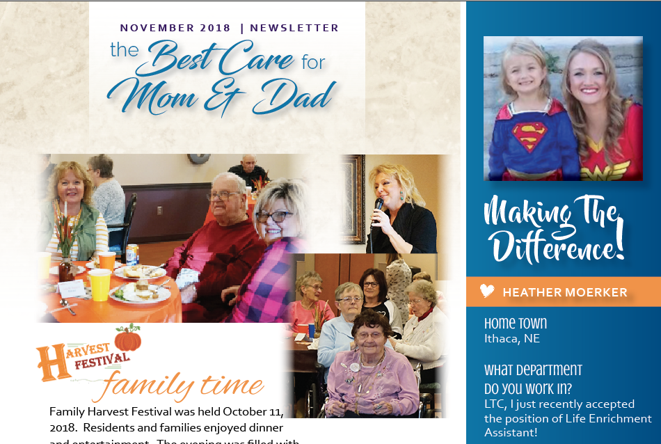 See what is new at SMC's Skilled and Long Term Care | November Newsletter