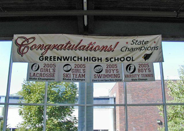 School sports team banner