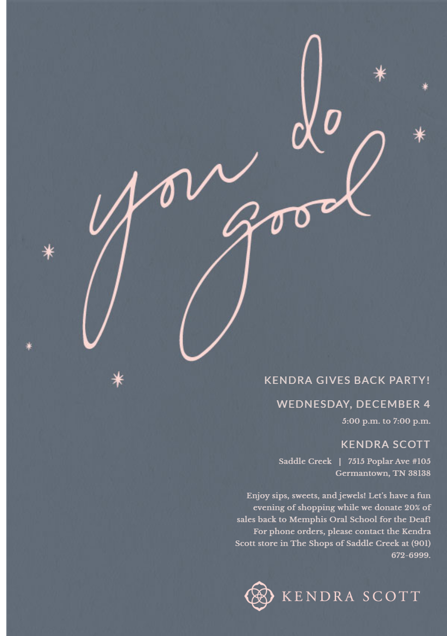 Kendra Scott Gives Back Event