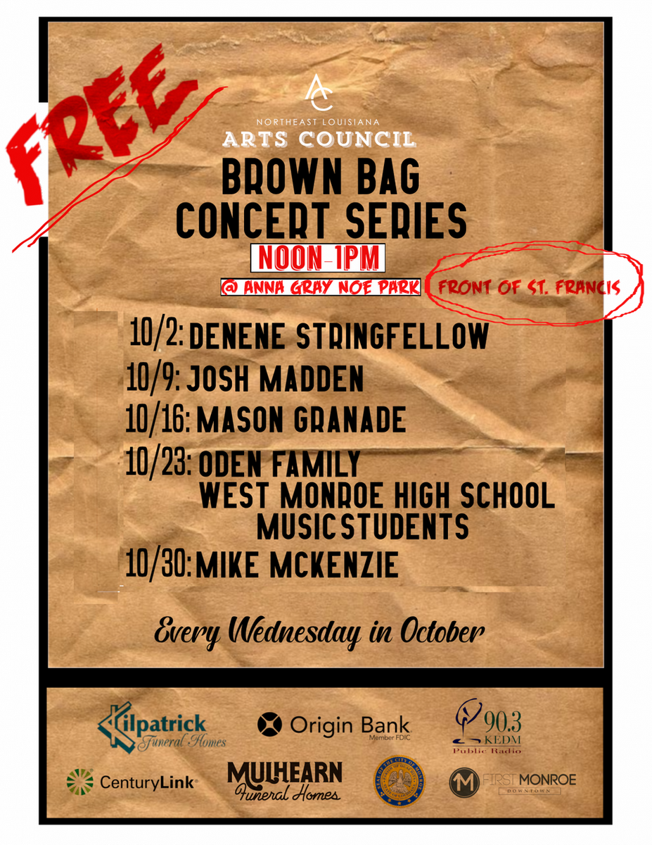 Spring Brown Bag Lunch Concert Series Lineup Announced