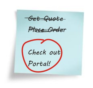 Place A New Order then take a Tour of Customer Portals