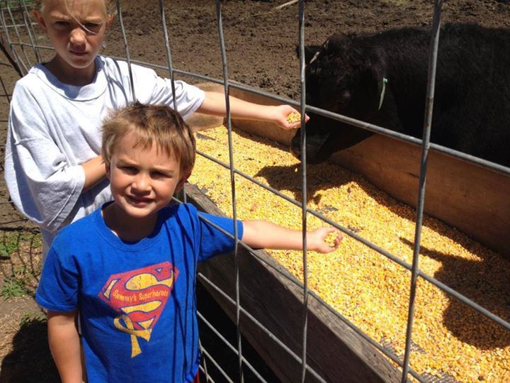 This sweet superhero is spreading awareness in Iowa... and feeding the cattle... :) Love it! Thanks Connor!!