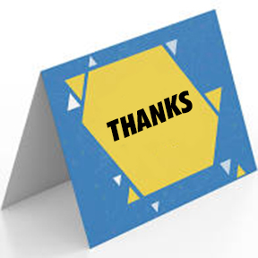 """Custom A-2 Note or Thank You Card - 5.5"""" x 4.25"""" printed 1-side"""