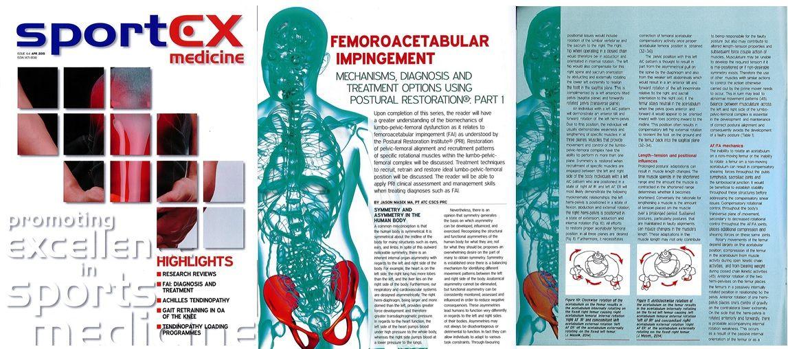 Hruska Clinic's Jason Masek Writes Article on Postural Restoration and Hip Impingement