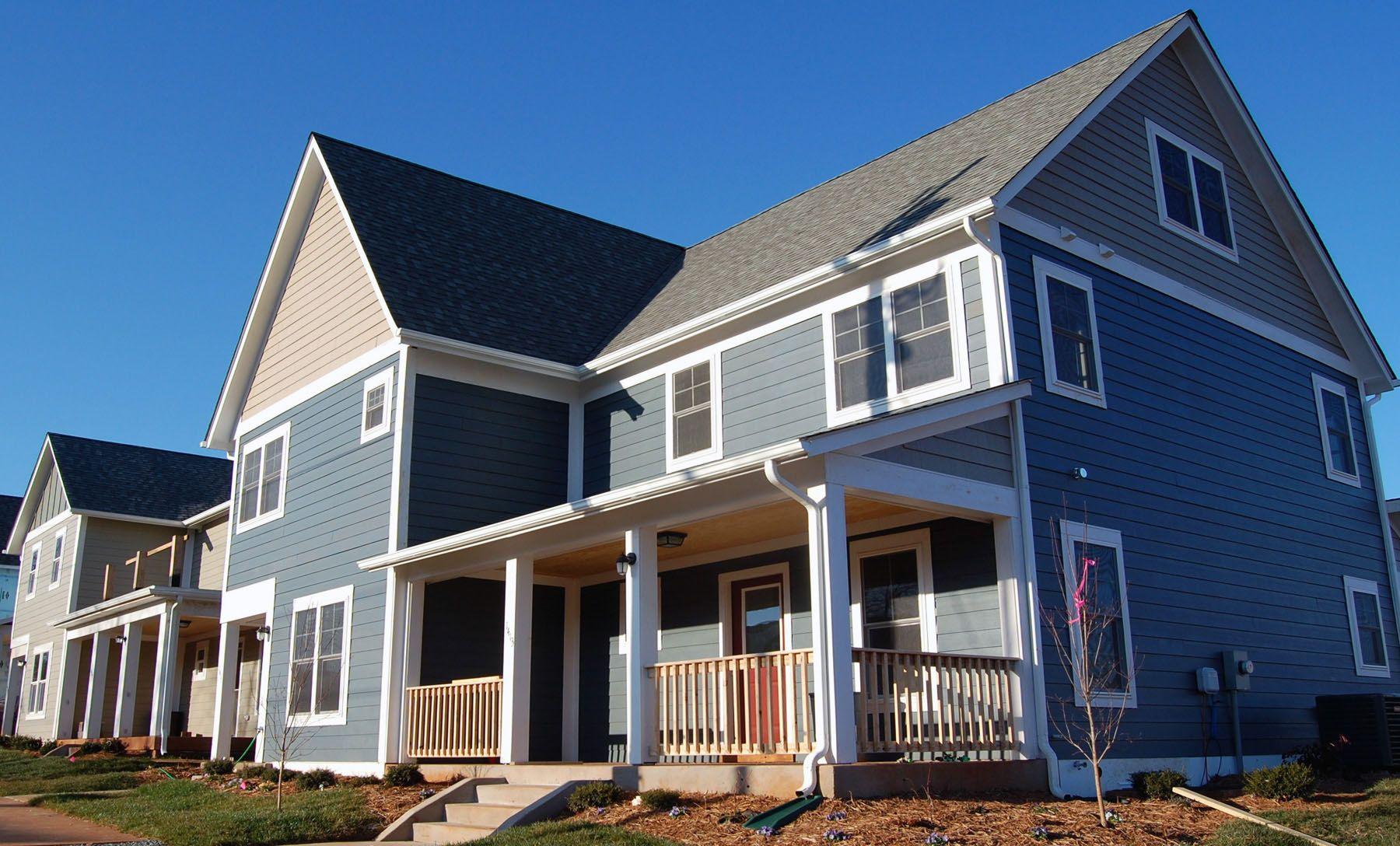 Habitat homes in the Sunrise Neighborhood