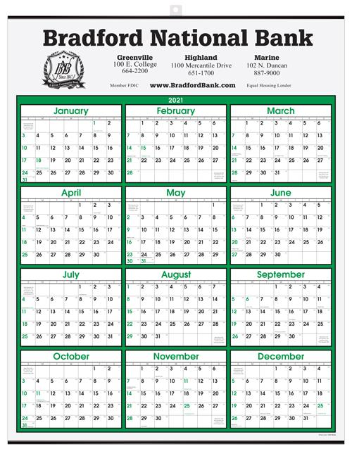 "Year-at-a-Glance Wall Calendar 22"" x 28"" -  Top Imprint DL-2281"