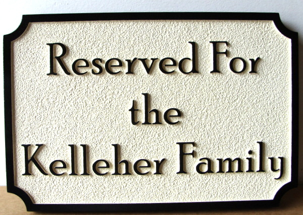 D13222 - Sandblasted HDU Reserved Pew Plaque for Church
