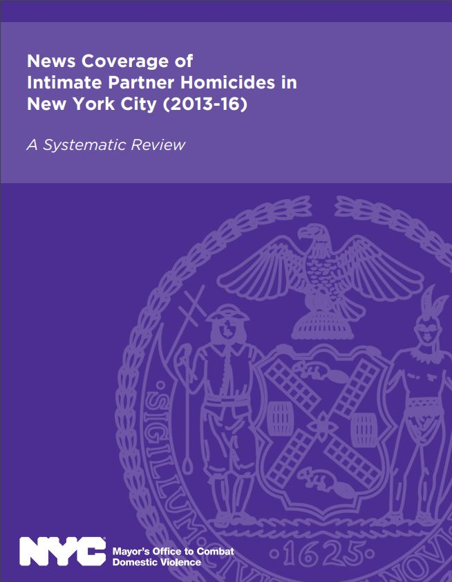 News Coverage of Intimate Partner Homicides in New York City (2013-16)