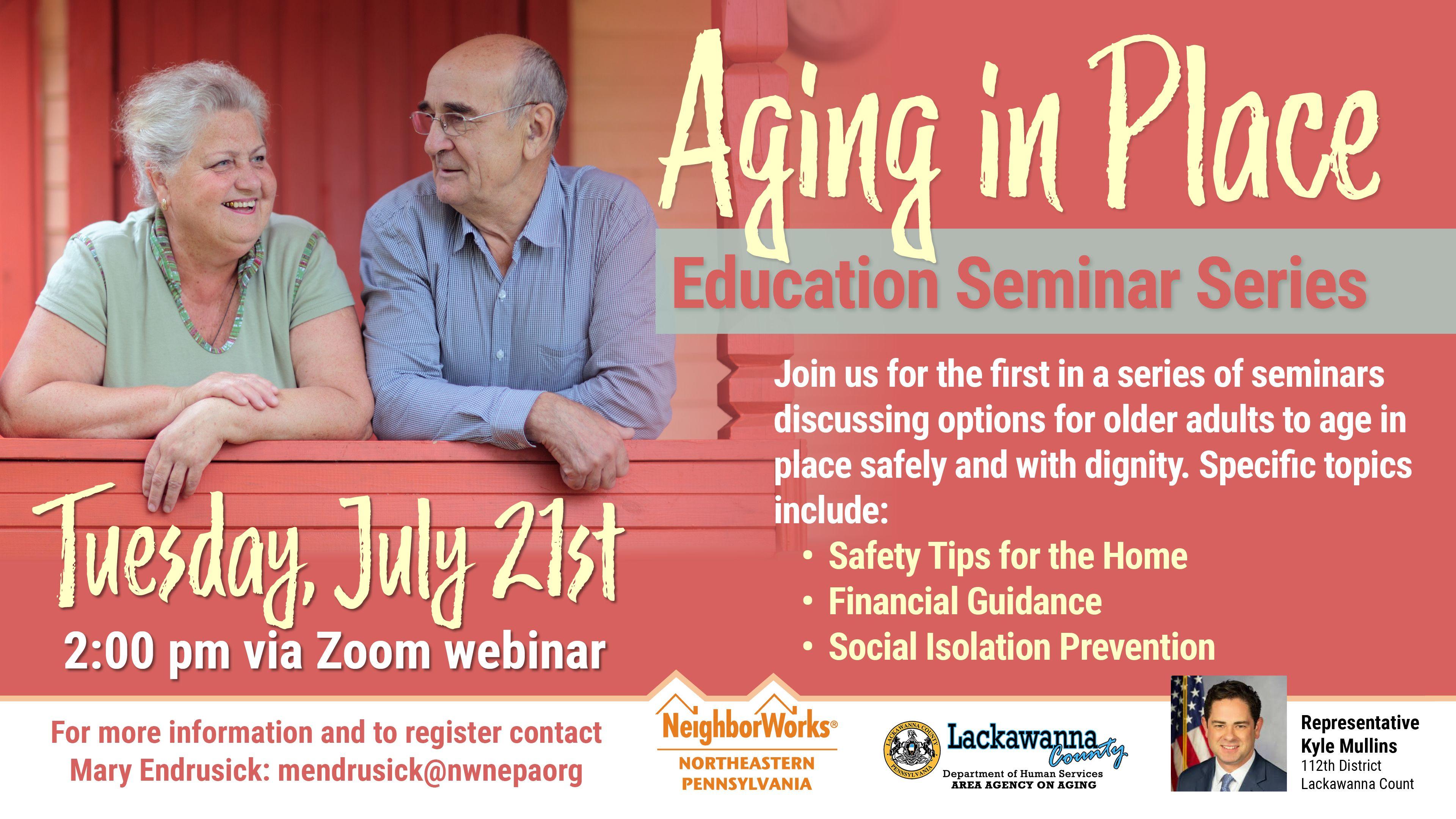 NeighborWorks NEPA offering virtual Aging in Place Educational Seminars