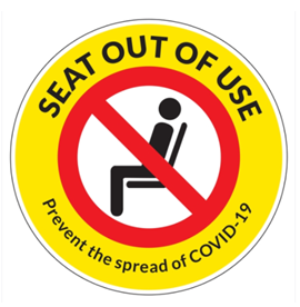 "12"" Square SEAT OUT OF USE Chair Graphic"