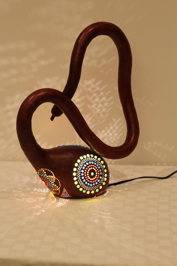 Gourd Guru Gourd Lamp - Donated by Stoey Stout
