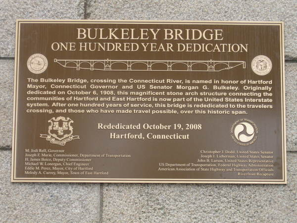 Cast Bronze Plaque with Bridge Graphics and City and State Seals