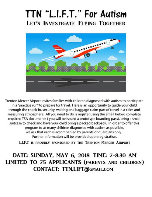 """TTN """"L.I.F.T."""" For Autism Let's Investigate Flying Together"""