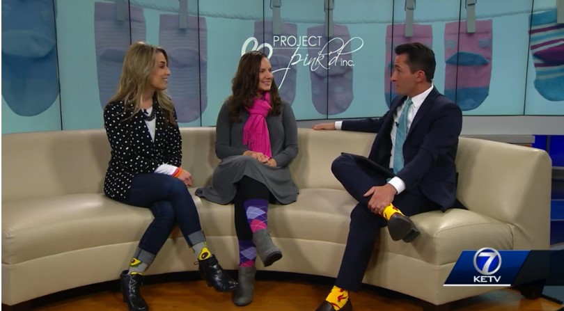 Omaha Woman Sells Socks to Give Back to Breast Cancer Survivor Program