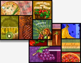 Designer Food Art Murals