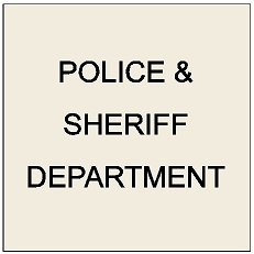 X33394 - Carved Wall Plaques for Police and Sheriff Departments