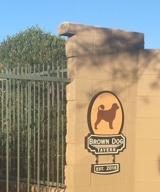 RB27629- Carved 2.5-D  HDU Wall Sign for Brown Dog Tavern