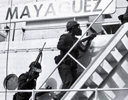 1975: Cambodian communists captured SS Mayaguez.