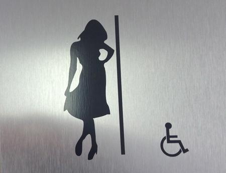 Womens Bathroom Plaque