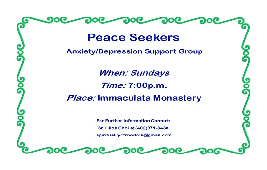 Peace Seekers -  Anxiety/Depression Support Group