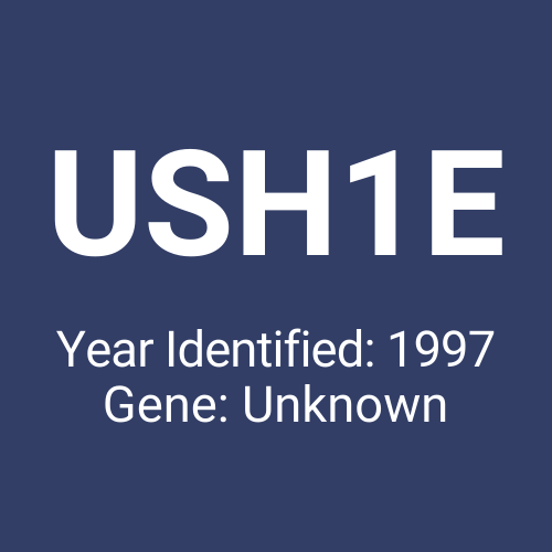 USH1E (Year Identified: 1997 | Gene: Unknown)