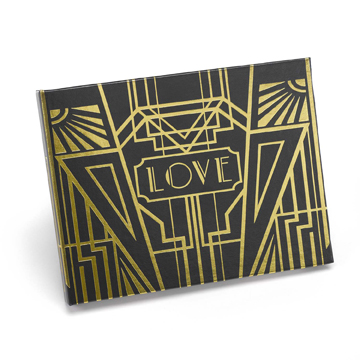 A.B. Art Deco Guest Books - Gold