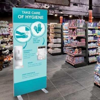 Customised Premium Freestanding Hand Sanitiser Station