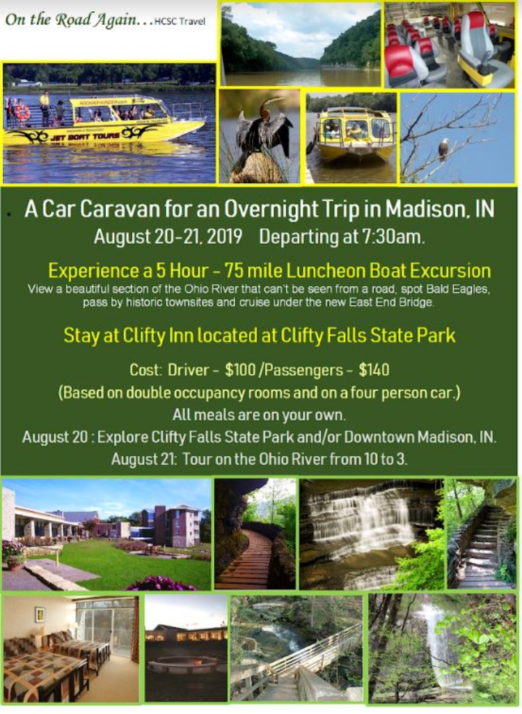 August 20-21 Madison Ind. River Cruise