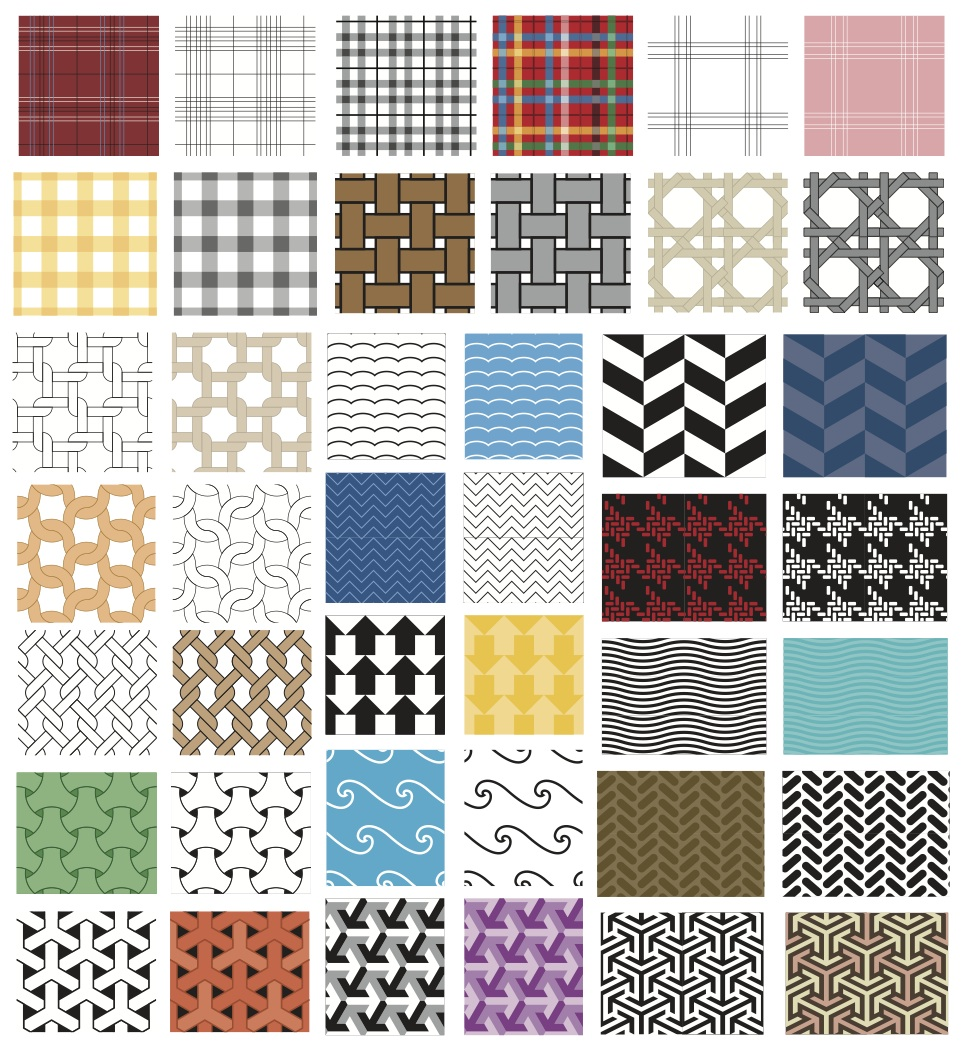 Basket Weave, Chevron, Plaid  Wallpaper