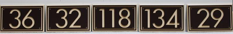 KA20931 - Carved and Sandblasted HDU  Residence Number Signs