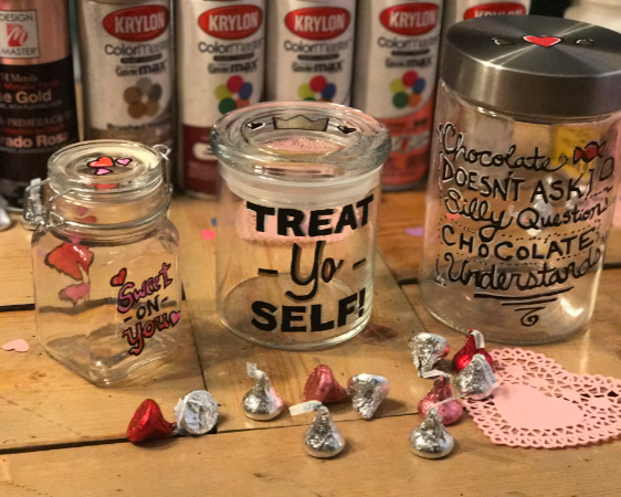Painted Candy Jars