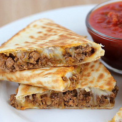 Quick Beef Quesadilla