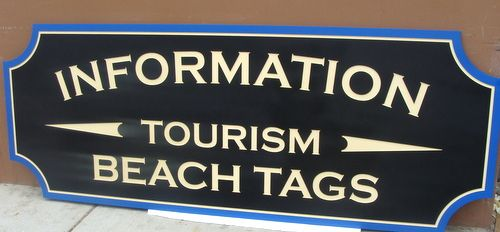 L21949 - Carved and Sandblasted HDU Beach Information Sign