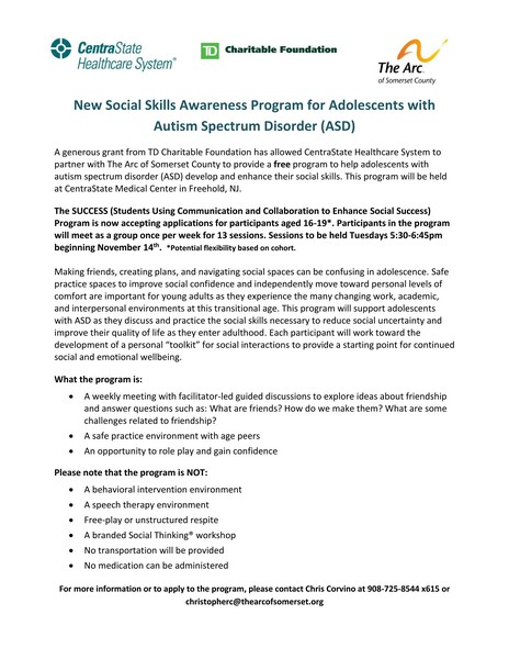 New Social Skills Awareness Program for Adolescents with Autism Spectrum Disorder (ASD)