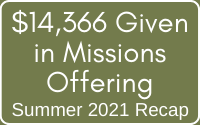 2021 Missions Offering