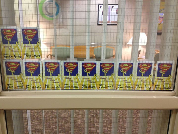 "Thank you Columbus Orthopedic and Sports Medicine Clinic for supporting Sammy's Superheroes!! Love the ""Sammy wall!"""