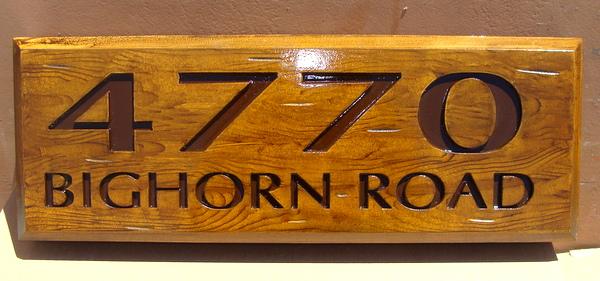 I18938 - Carved Rustic Property Address Sign
