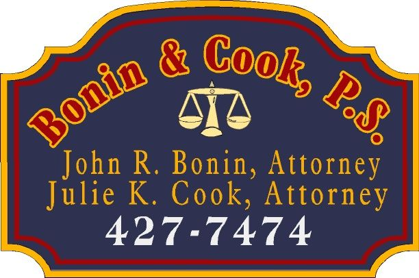 A10190 - Carved Attorney Sign